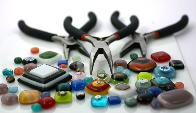 korálkování šité šperky